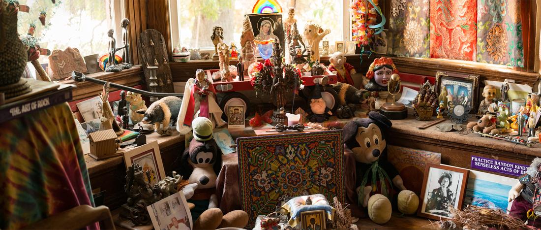 Wavy Gravy's shrine -