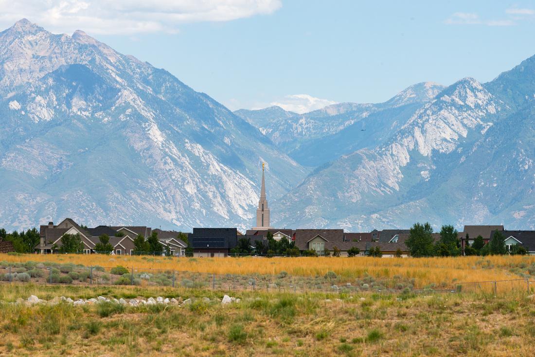 Mormon ward house spire, Salt Lake City