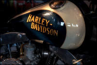 _1AR3217-Harley tank glowing in the afternoon-LA Motorcycle Museum