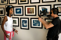 City Hearts auction at Leica Gallery - Ty-Yhana talks to the camera and Hso Hkam